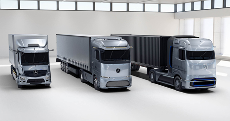 World premiere of Mercedes-Benz fuel-cell concept truck